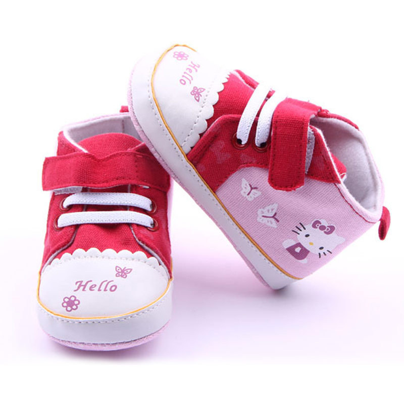 2092ca05f Get Quotations · Newborn Baby Girl Hello Kitty Shoes 2015 Fashion Spring &  Autumn Girls First Walkers Prewalker Canvas