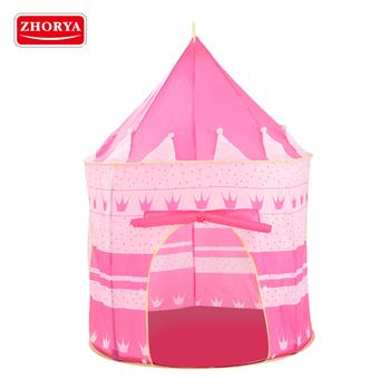 Zhorya Big Kids Castillo De Princesa Rosa Interior Al Aire Libre Juguete De Tela Tienda De Juego Buy Tiendas De Campaña Para Niños,Tienda De