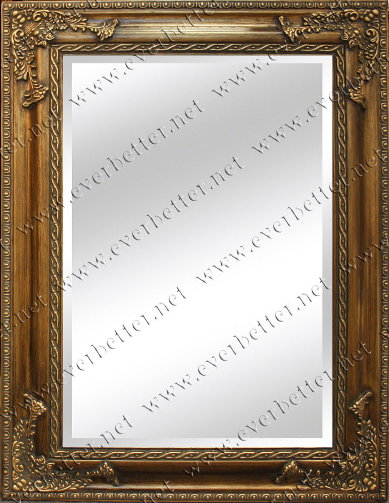 Large Size Wall Decor Vintage Wood Frame Mirror - Buy Large Size ...
