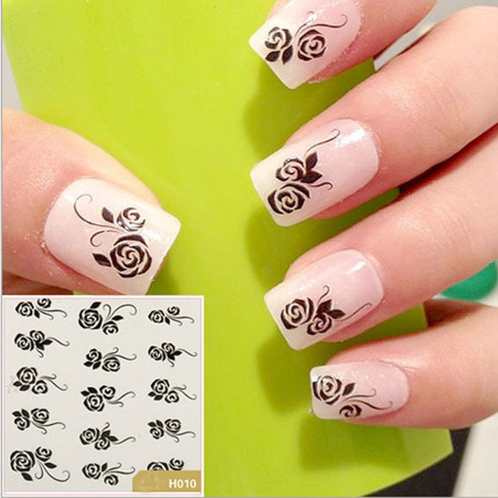 French Nail Art Water Decals Transfers Stickers 2d Custom Nail Art ...