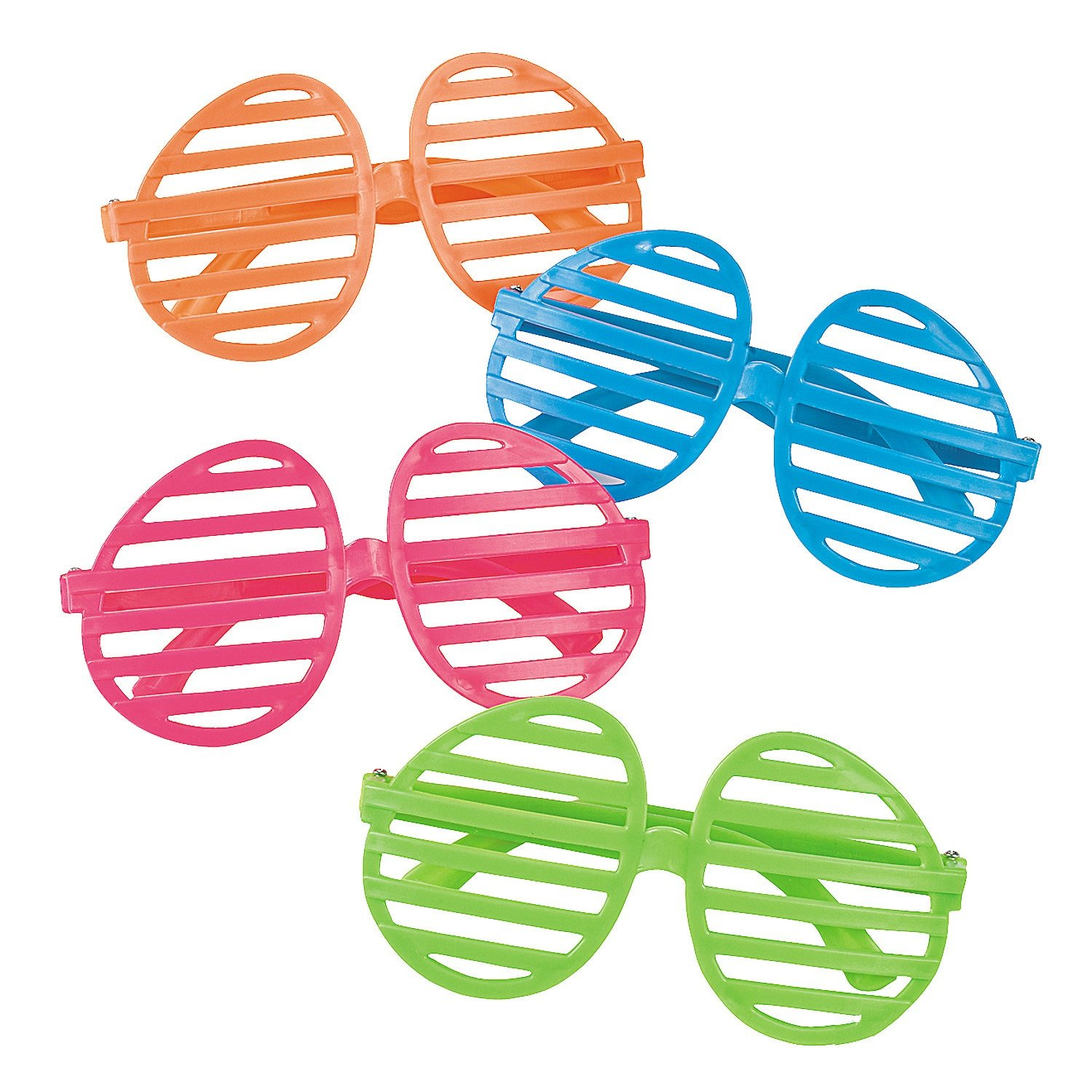 """Easter Egg-shaped Shading Glasses Bright Neon Colors (12 Pack) 5"""" X 2 1/2"""" with 5 1/4"""" Ear Pieces. Plastic"""