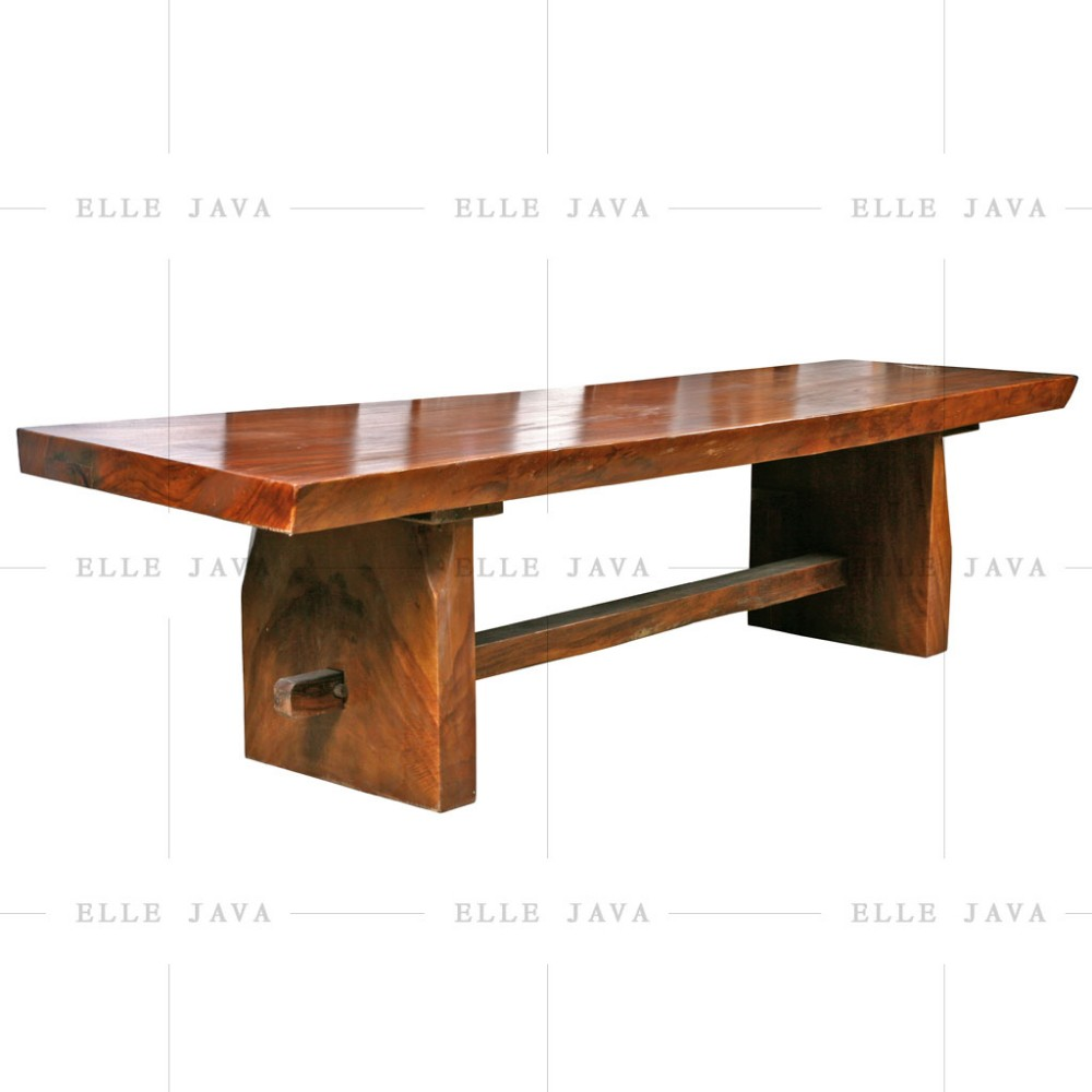 One Whole Piece Teak Wood Dinning Table Furniture