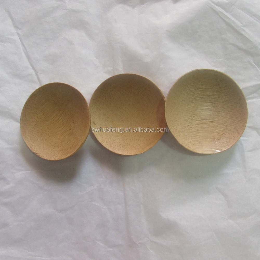Rounded Bamboo Flavor Dish