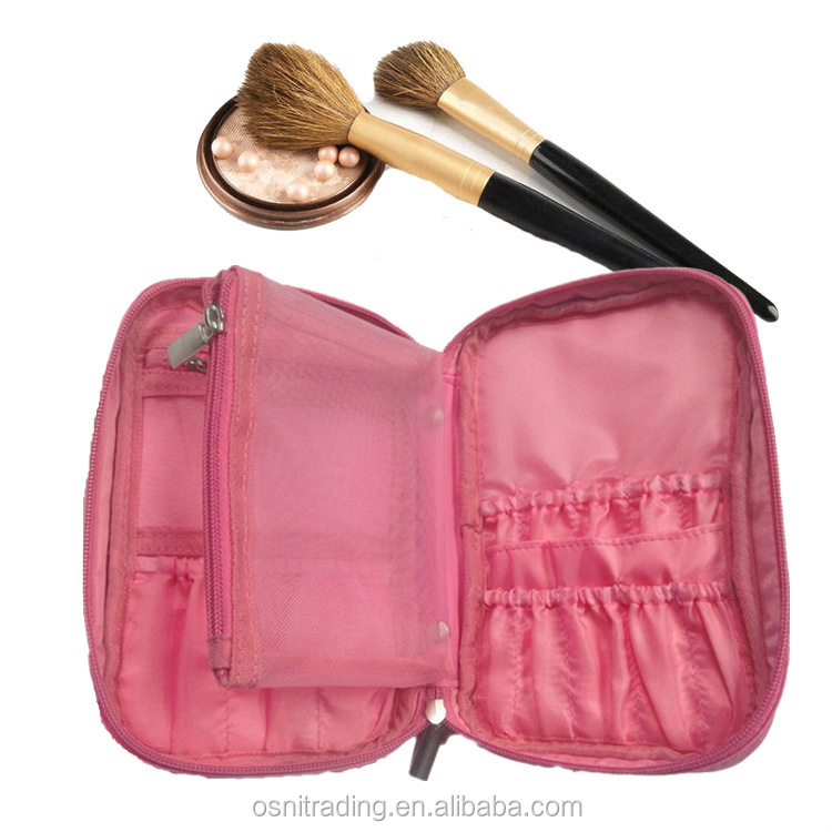 Guangdong stationery manufacturer cosmetic bag multifunctional makeup brush case