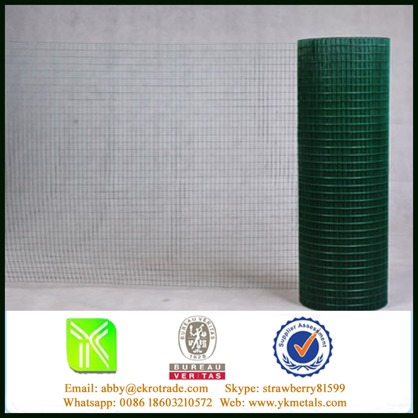 "3/4""* BWG14 Welded Wire Mesh Fence Used For Animal Feeding ( Green )"