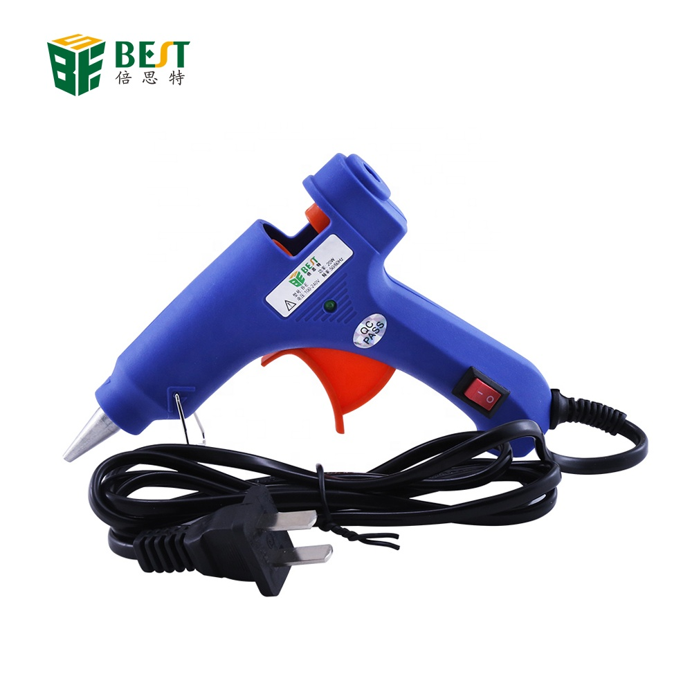 Heißkleber Pistole mit 30 stück 7mm * 200mm Klebestift Industrielle Mini Guns Thermo Electric Heat Temperature Tool