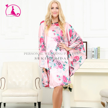 Floral Knee Length Maternity Hospital Gown Delivery Robe Labor Gown