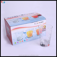 6pcs Rock Glass Juice Cup Dinnerware Set For Customer Printing Glassware