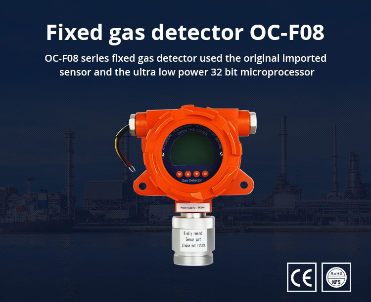 Oc-f08 Fixed Hydrogen Sulfide H2s Gas Detector With 4~20ma And Rs485 Signal  Output - Buy Hydrogen Sulfide H2s Gas Detector,Fixed Hydrogen Sulfide H2s