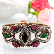 SUNSPICE MS винтажный браслет для женщин, винтажный браслет в стиле ретро, турка, античный золотой браслет, двухсторонний браслет, богемный стиль...(Китай)