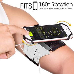 Wholesale running armband for iPhone X/iPhone 8 Plus/8/7 Plus/6 Plus/6,sport armband for cell phone screen size up t 6 inch