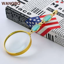 Latest style reading removable illuminated inspection magnifier