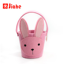 Roze bunny decoratie <span class=keywords><strong>stof</strong></span> <span class=keywords><strong>pasen</strong></span> emmers <span class=keywords><strong>mand</strong></span>