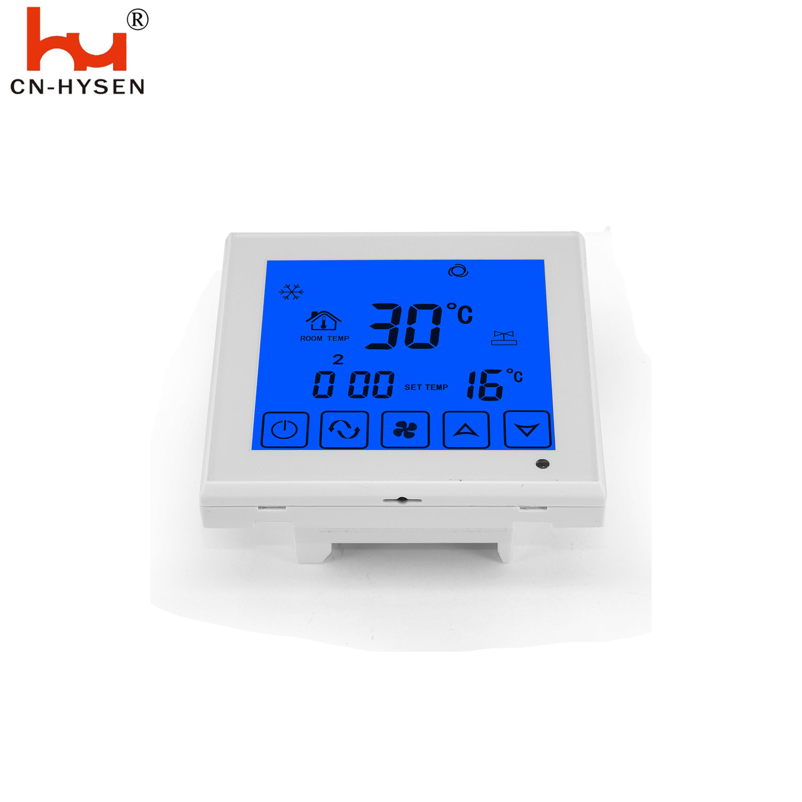 Control room heating/cooling temperature Function and ABS Material hotel room thermostat FCU