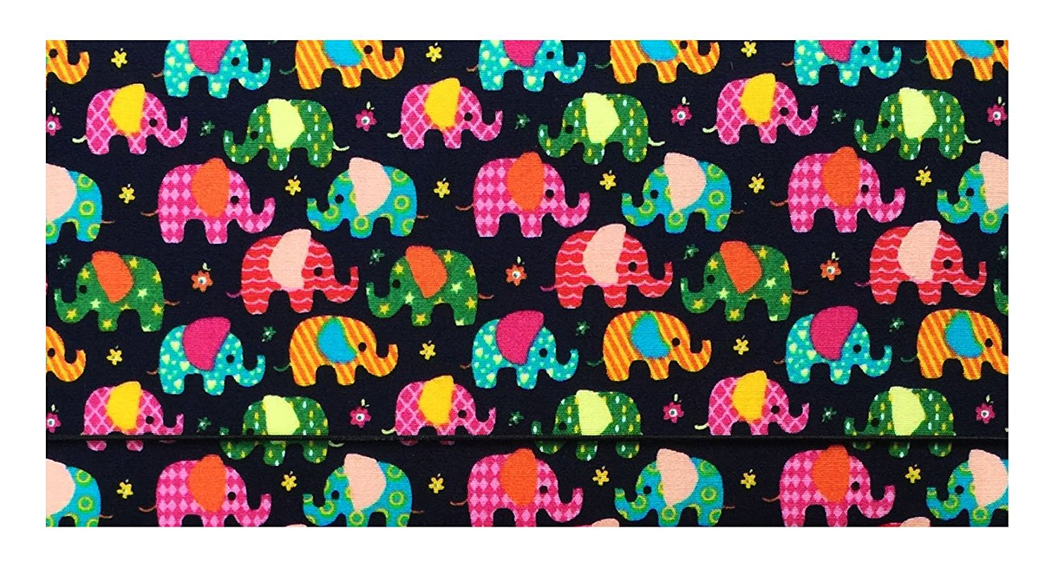 buy small elephants cotton checkbook cover for top tear checks