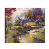 Modern SGS Netherlands European Pastoral Landscape Oil Painting On Canvas For Wall Decor