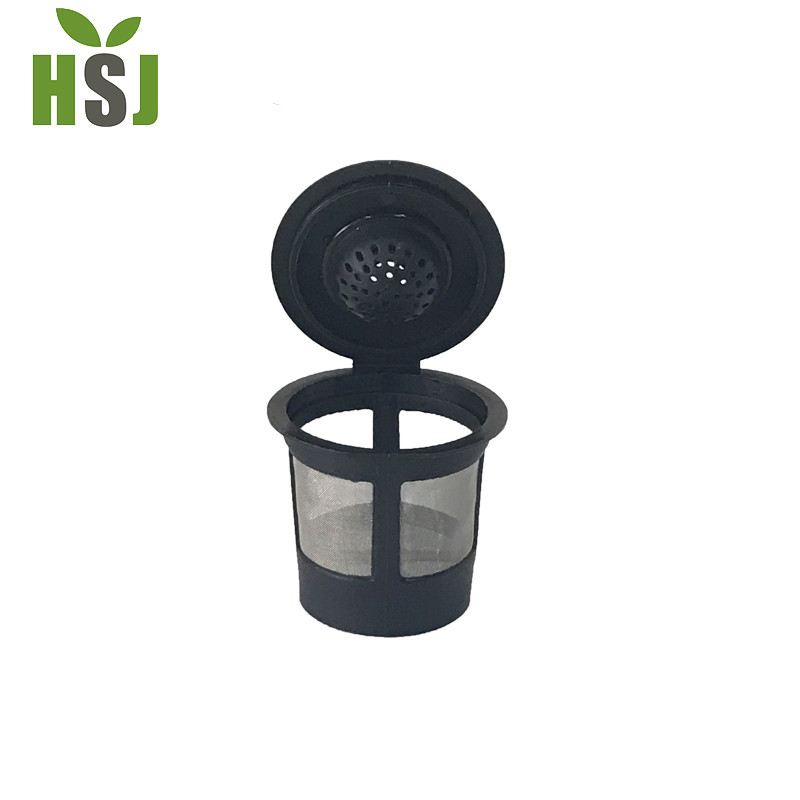 Best selling Black color plastic reusable coffee k cup filter