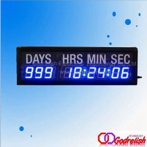 "New Design Home Decor HQ Event 1.8"" 9Digital Countdown Timer Wall LED Clock"