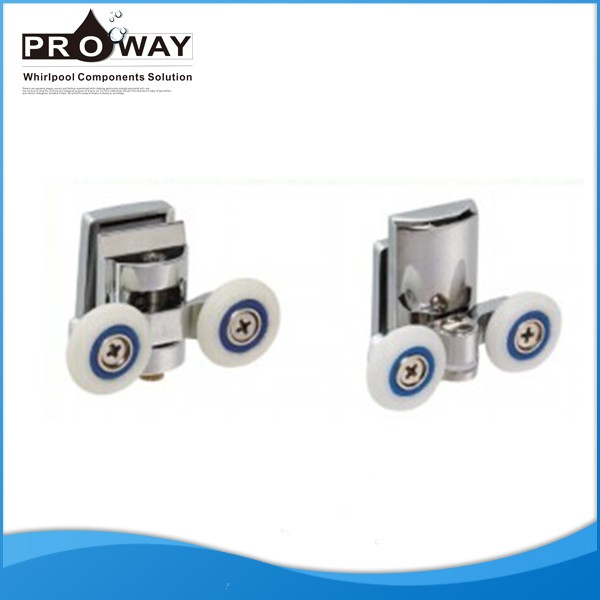 Shower room door parts plastic shower roller for sliding for Bathroom door parts