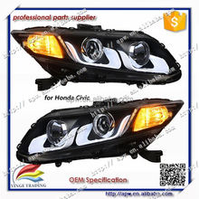 Taiwan Eagle Eyes Brand Projector Lens Front Lamp for Honda Civic Head Lamp Head Light