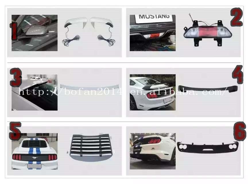 haute qualit pi ces automobiles pour ford mustang 2015 pare chocs id de produit 60364070259. Black Bedroom Furniture Sets. Home Design Ideas