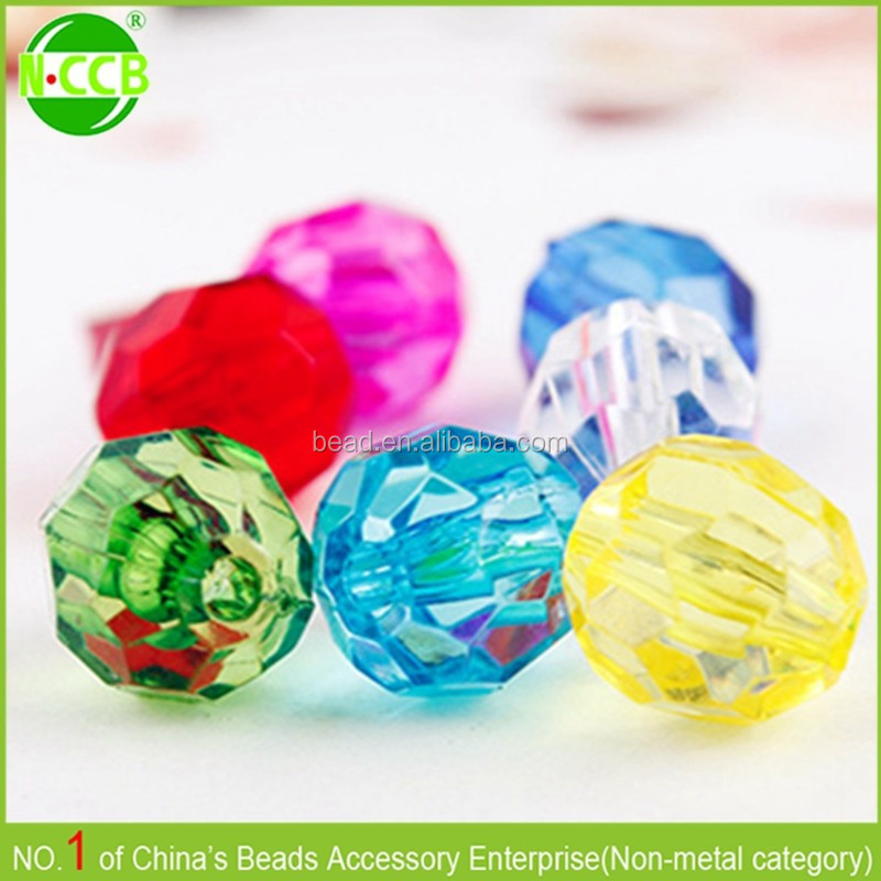 decorative clear crystal loose beads for clothes