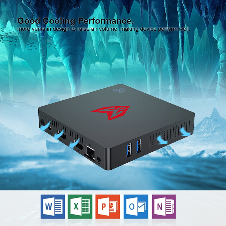 New mini pc N3350 12V small computer