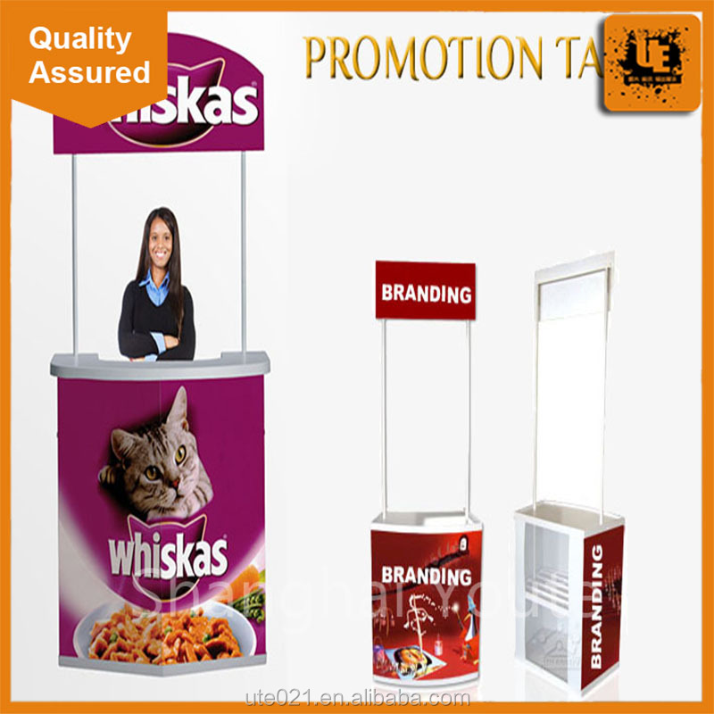 PVC promotion counter booth, cardboard promotion table,Pop up promotion table