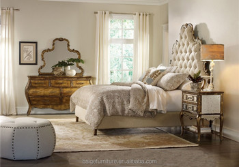 BD 0009 French Country Bedroom Furniture Sets White Antique Bedroom Set