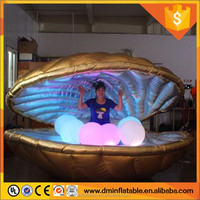 Club or wedding stage decorations inflatable shell with led light
