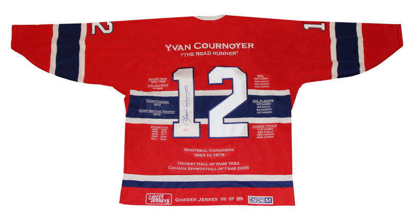 19b63bf25cc Yvan Cournoyer Career Jersey - Autographed - Limited Edition - Montreal  Canadiens
