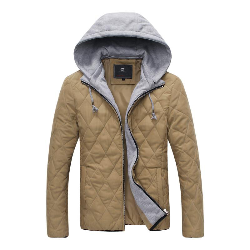 Buy 2015 Park Men Winter Thicken Jackets Argyle Coats Mens Parka ...