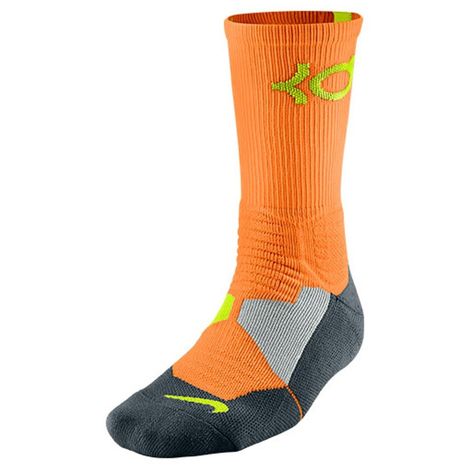 60a576a313b8 Buy Nike Mens KD Kevin Durant Hyper Elite Crew Socks Bright Citrus ...