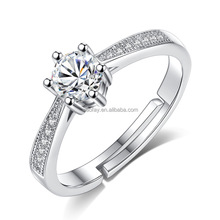 2017 New CZ Stone 925 Sterling Silver Wedding Diamond Ring