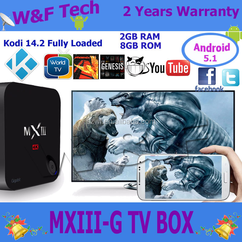 Android 5.1 Os Mxiii-g 1000m Lan Download Speeds Smart Tv Box Amlogic S812 2g 16g Mx3-g