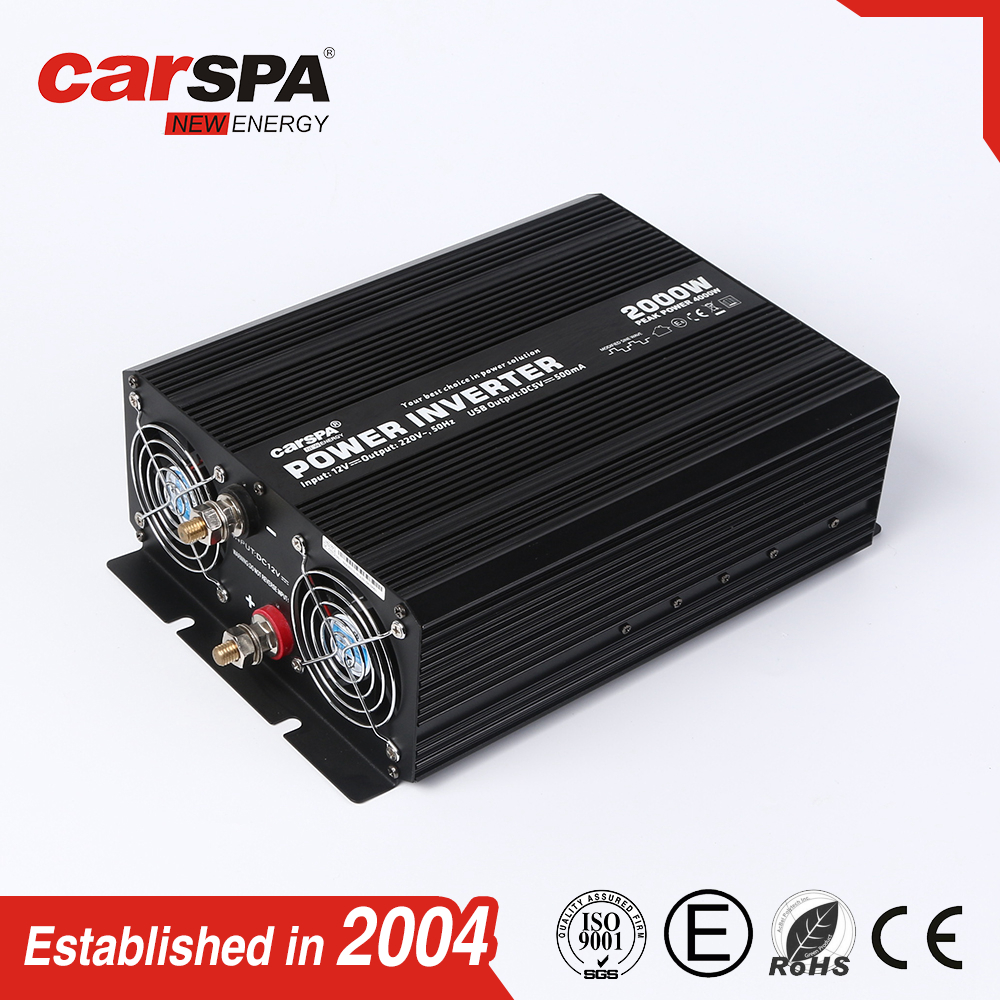 Dual output socket economic power inverter 2000w for home use