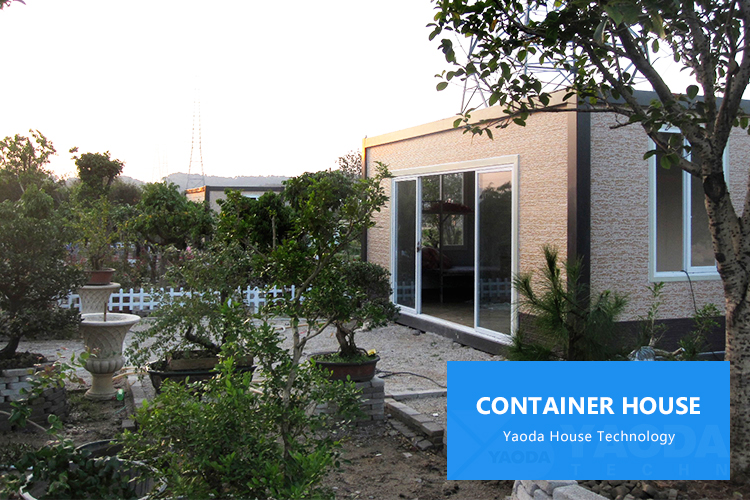Prefab flat pack 20ft container office modern design 20' container house tiny single bedroom prefab container house
