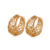 23571 xuping latest 18k gold plated hoop earring