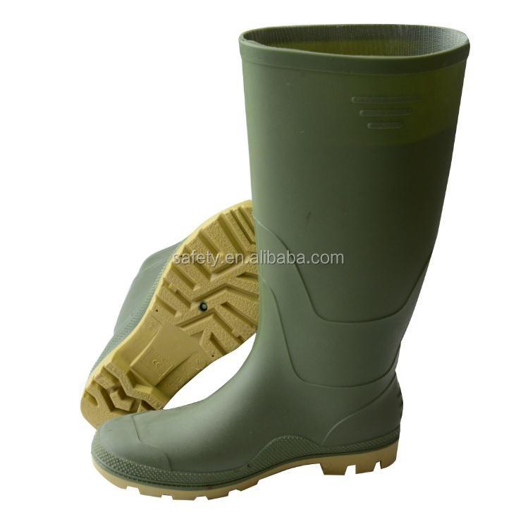Portable Ce En 20347 Pvc Rain Boots Safety Gum Waterproof Fishing ...