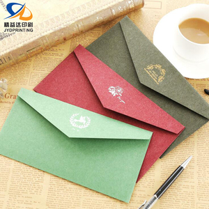 2019 New Design Red Envelop Printing Hot Selling Gift Card Paper Wedding Envelop Custom Black Envelope