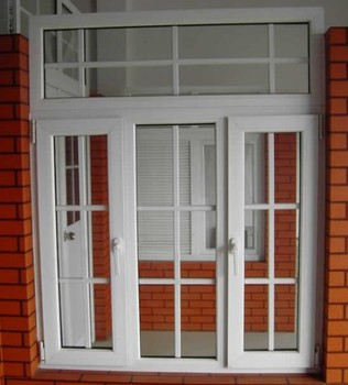 Pvc upvc sample design casement plastic grids window lock for Exterior window casement design