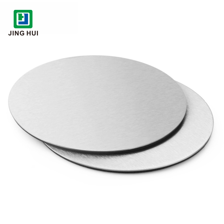 Promotional Custom Metal Cup Mat Silver Brushed Stainless Steel Coaster