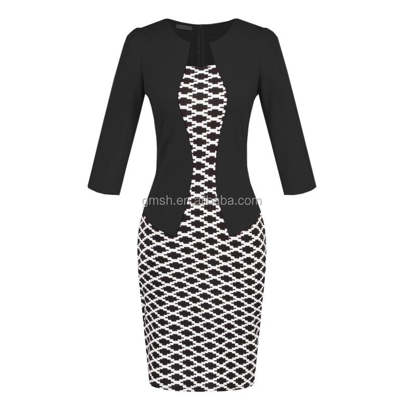 c2b10e728cfd87 2017 groothandel goedkope elegante jurk dames jurk formele kantoor jurken  voor vrouwen