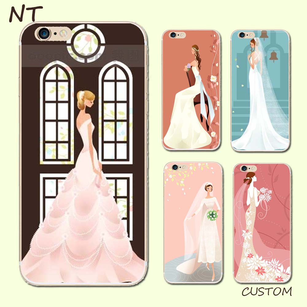 Guangzhou noble white wedding dress series printing mobile phone cases for hot sale