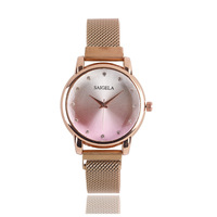 3812 High Quality Hotsale Fancy Ladies Quartz Wrist Stainless Steel Magnetic Woman Watch