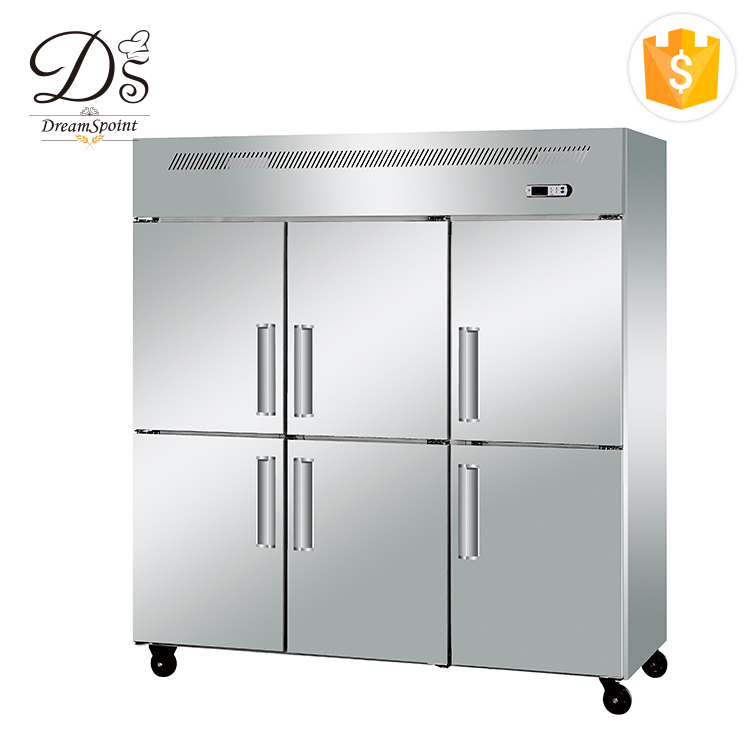 Guangzhou OEM factory energy saving kitchen refrigeration equipment upright 6 doors commercial refrigerator