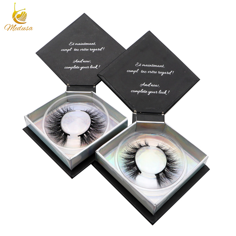 Alibaba manufacturer 3D beauty mink strip lashes with custom eyelash box