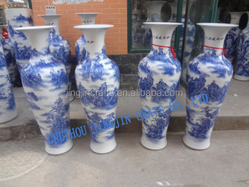 3 2m Blue And White Porcelain Vase Tall Large