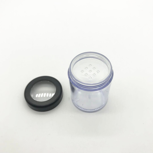 High quality empty 15g clear cosmetic loose powder case for cosmetic packaging