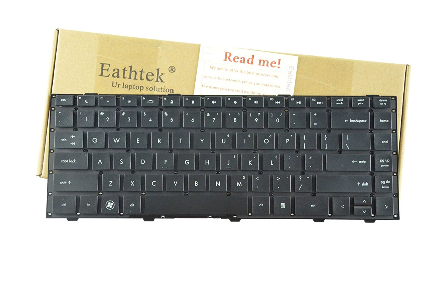 Eathtek Replacement Keyboard without Frame for HP Probook 4440s 4445s 4446s series Black US Layout, Compatible with part numbers 683657-001 702238-001 701282-001